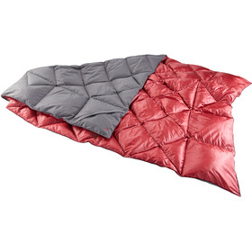Y by Nordisk Kiby Packable Down Blanket 200x140cm, grijs/rood